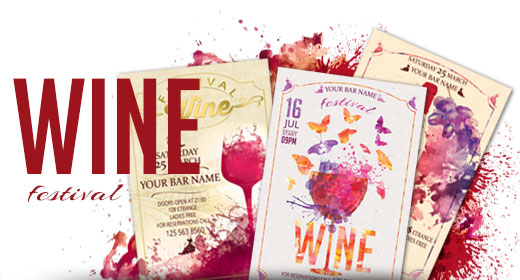 Wine Festival Flyer And Posters