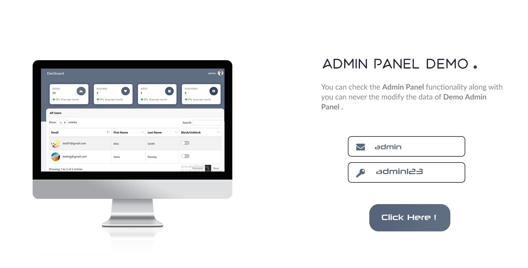 Books4u - Android Ebook App + Admin panel - 11