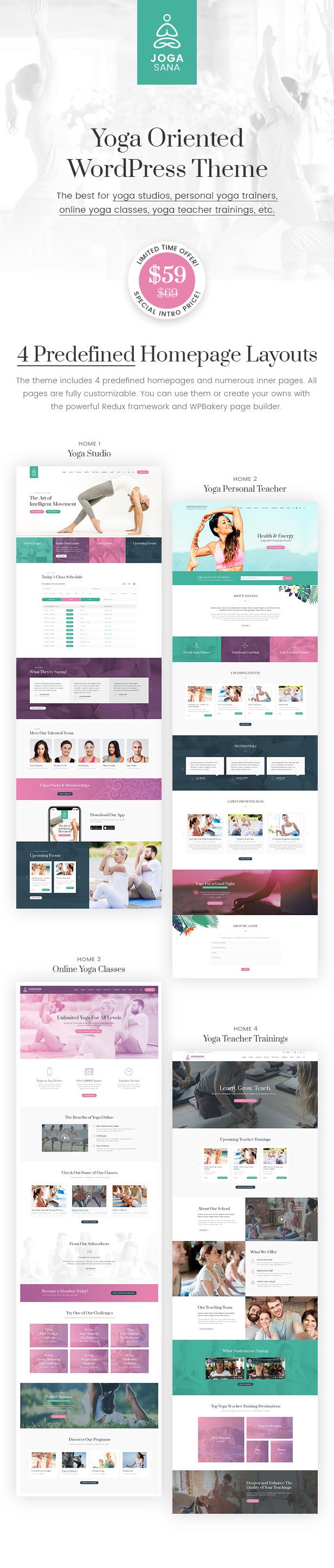 Jogasana - Yoga Oriented WordPress Theme - 1