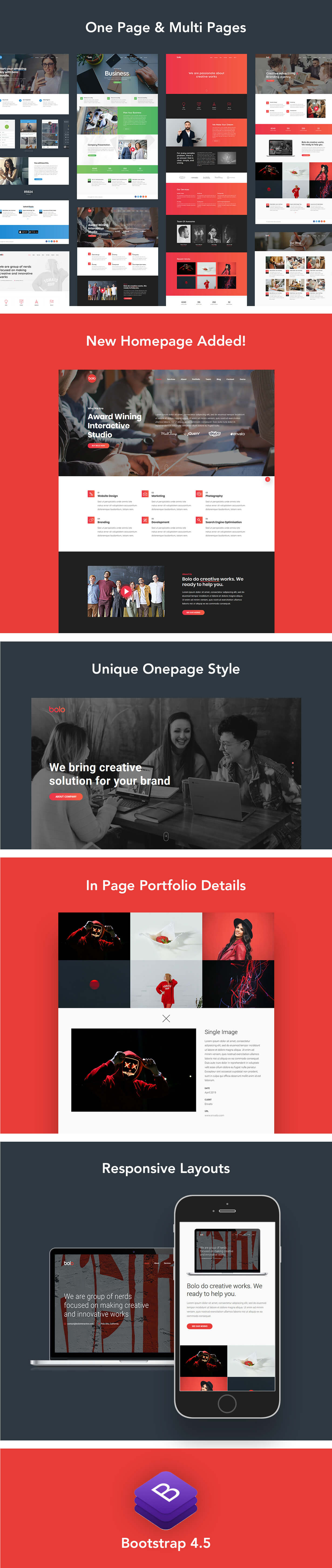 Bolo - One Page Creative Multipurpose Website Template - 1