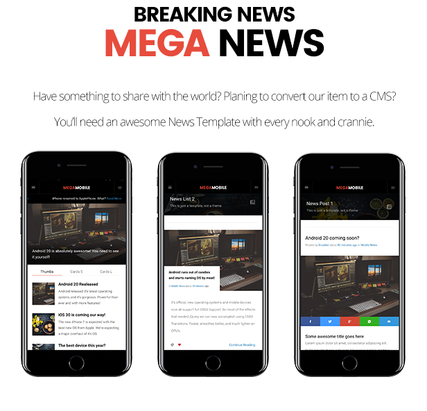 Mega Mobile by Enabled | ThemeForest