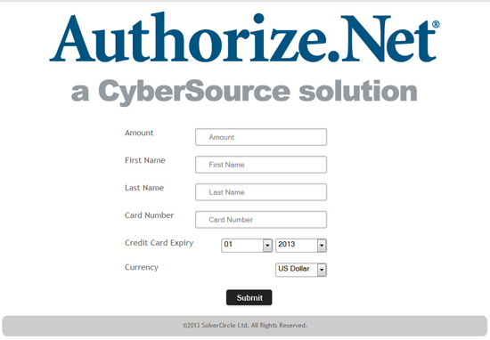 Authorize.Net Payment Gateway for ASP.Net - 6