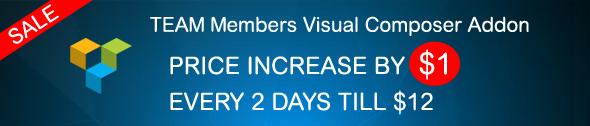 Team members Visual Composer Sale