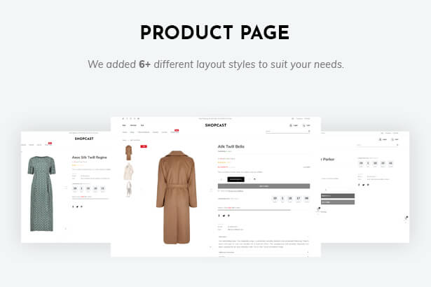 6 layouts of product page