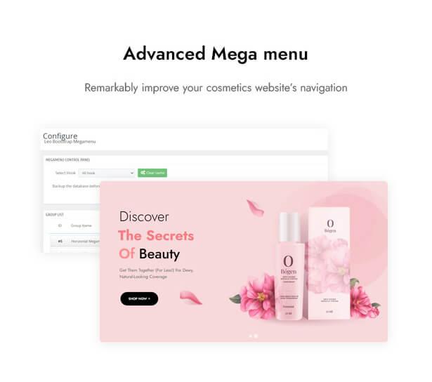Advanced Mega menu Remarkably improve your cosmetics website's navigation