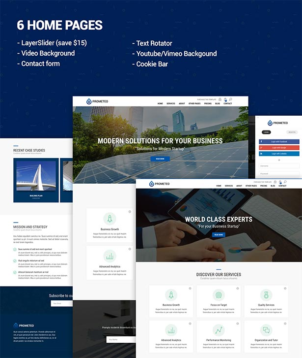 Prometeo Business And Financial Site Template