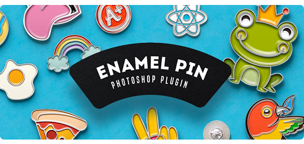 Soft Enamel Pin Generator Photoshop Extension