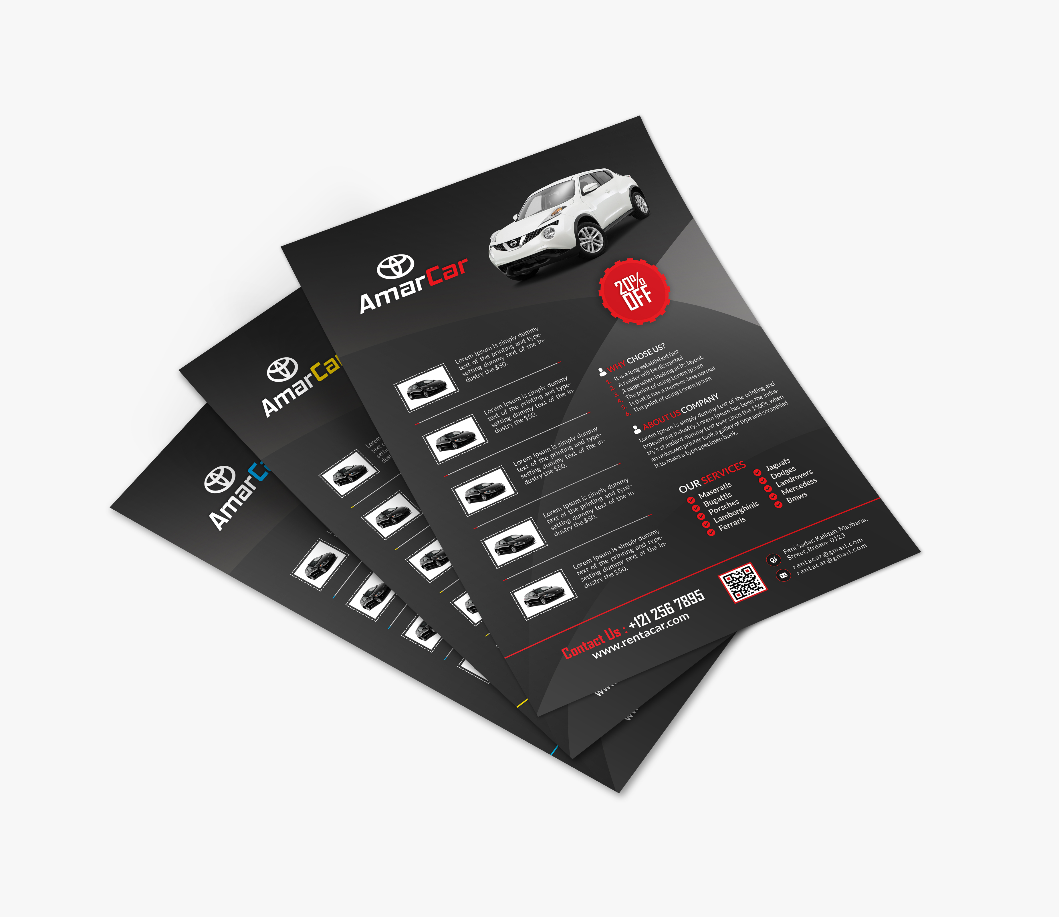 rent a car business card by creative touch