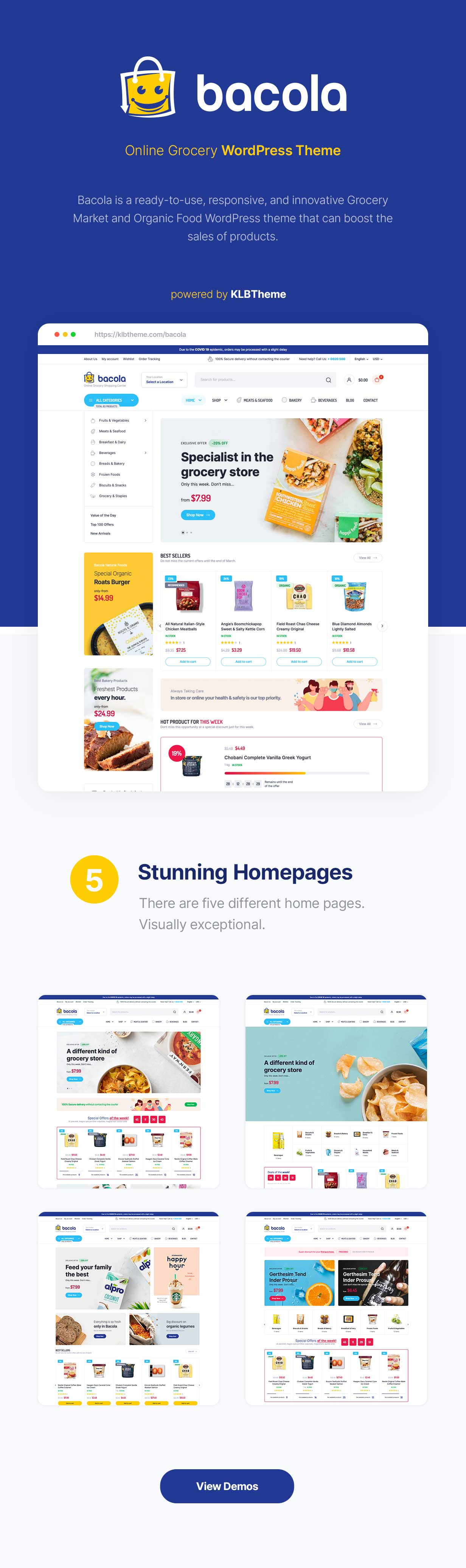 Bacola - Grocery Store and Food eCommerce Theme - 1