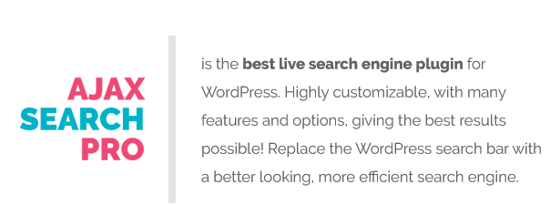 Ajax Search Pro - Live WordPress Search & Filter Plugin - 1