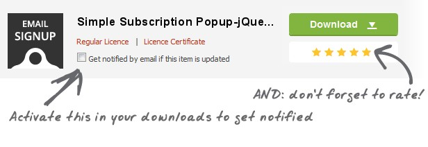 Simple Subscription Popup-jQuery Email Signup Form - 3