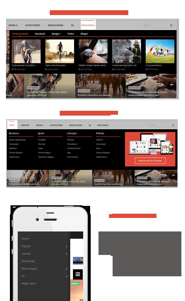 SJ LifeMag - Powerful mega menu