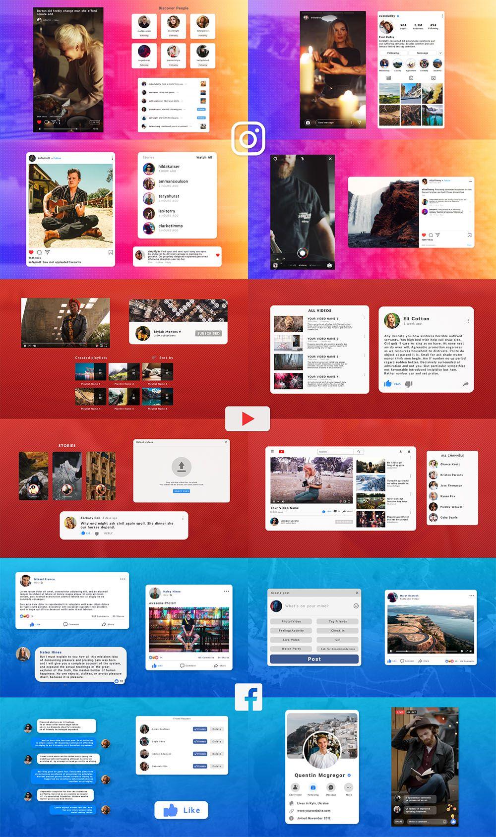 Social Media Elements Pack - Premiere Pro - 1