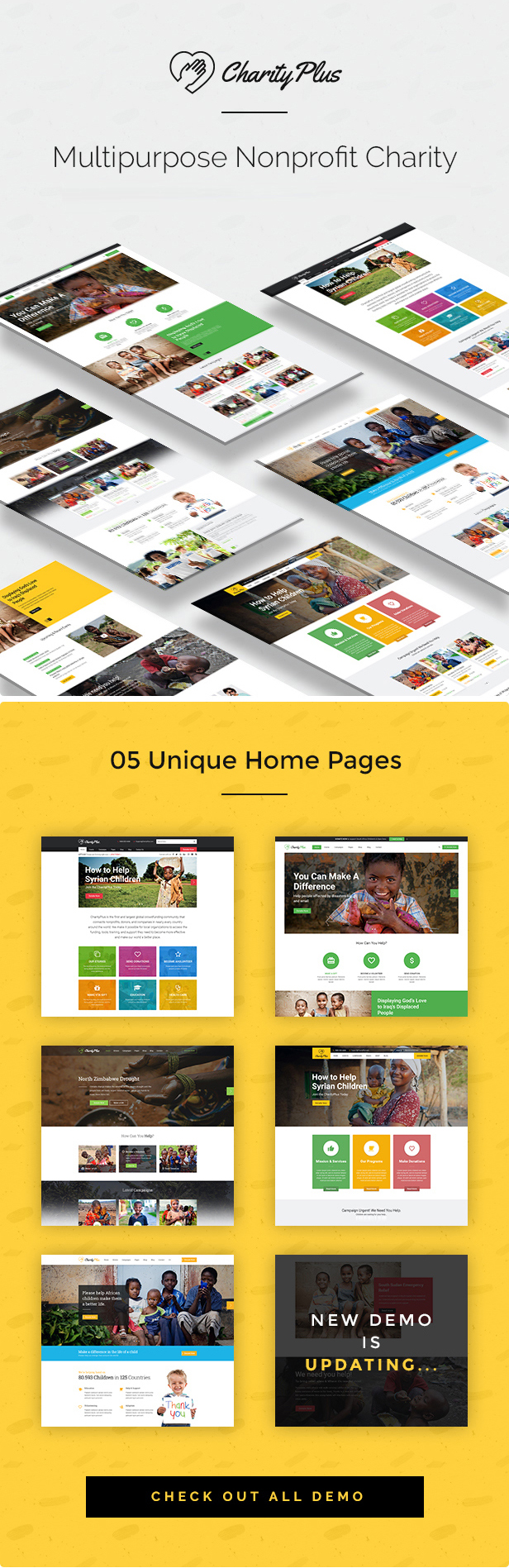 CharityPlus - Multipurpose Nonprofit Charity Organization HTML5 Template - 2