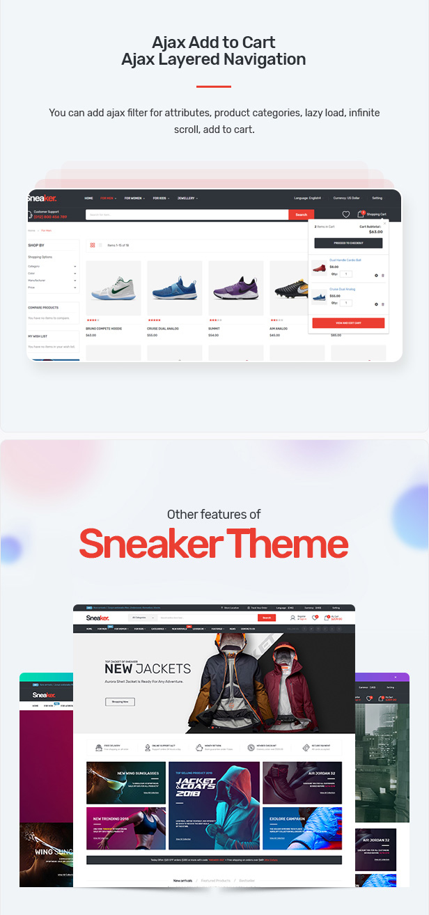 Sneaker - Shoes Responsive Magento Theme