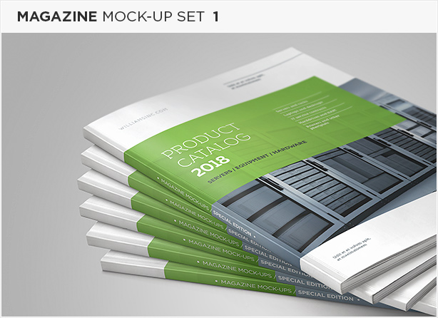 US Letter Brochure / Catalog Mock-Up