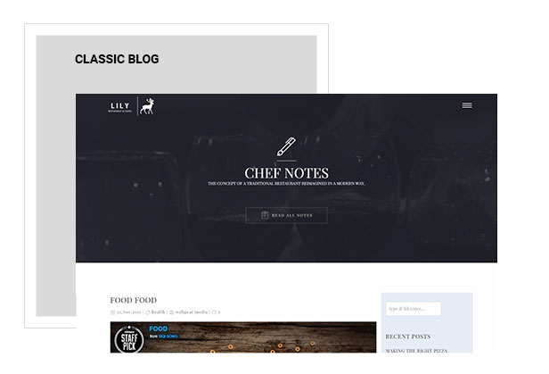 Lily | One Page Restaurant WordPress Theme - 6