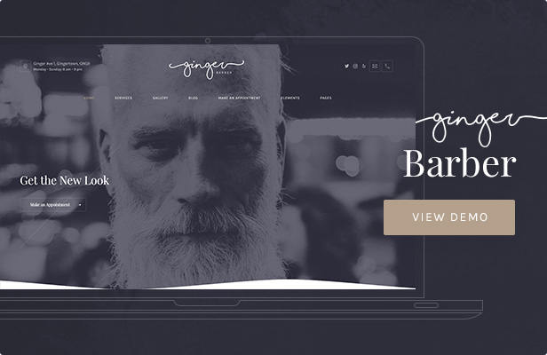 Ginger — Barbershop WordPress Theme