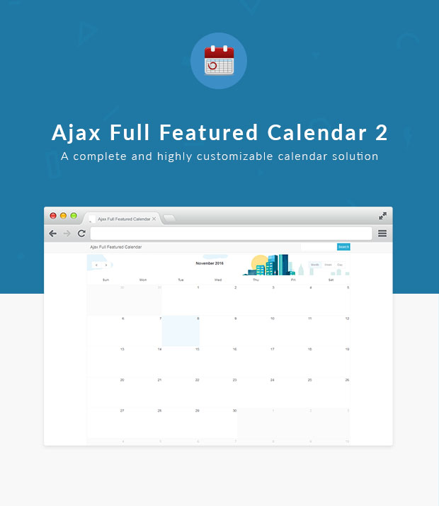 Ajax Full Featured Calendar 2 - 1