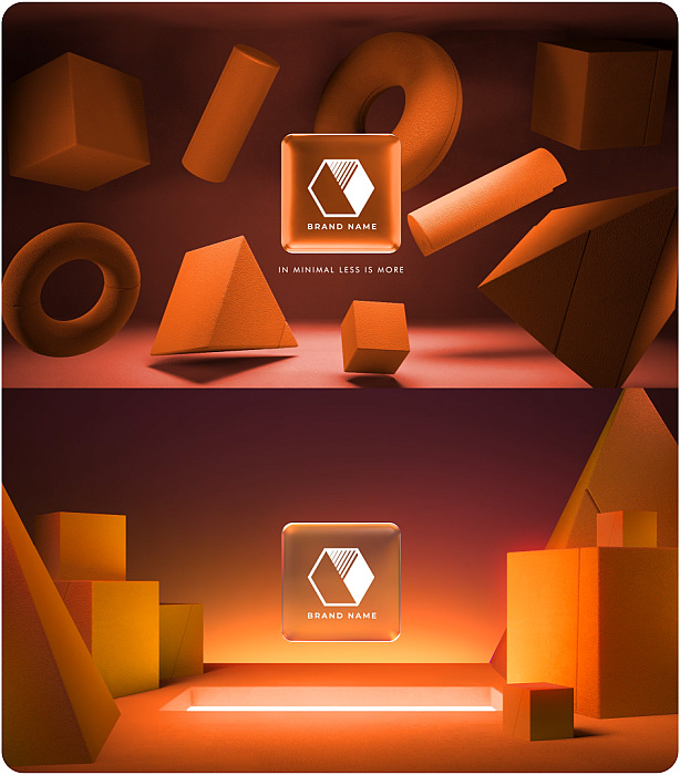 Gradient Glass Logo Reveal. 10 Ready Color Presets. - 7