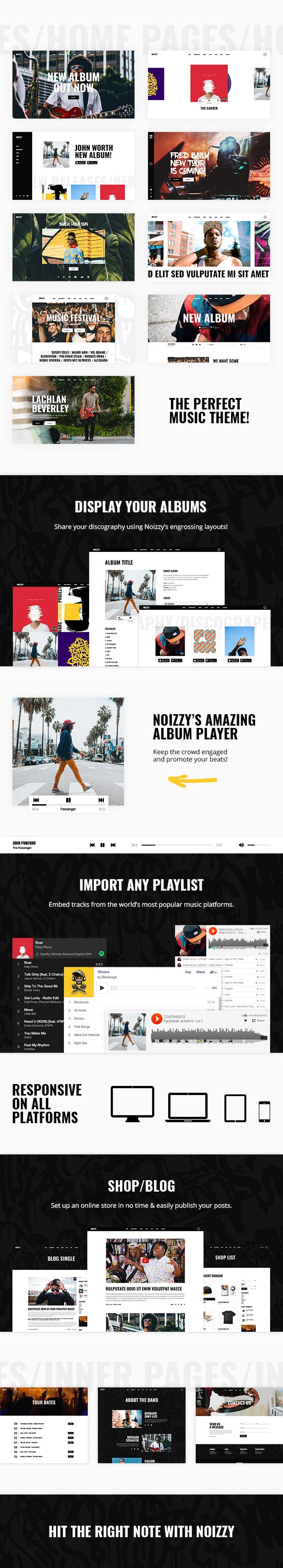 Noizzy - Music Band WordPress Theme - 1