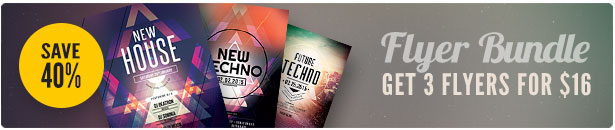 Techno Flyer Bundle
