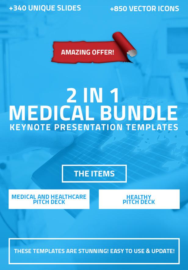 2 in 1 Medical and Healthcare Keynote Bundle