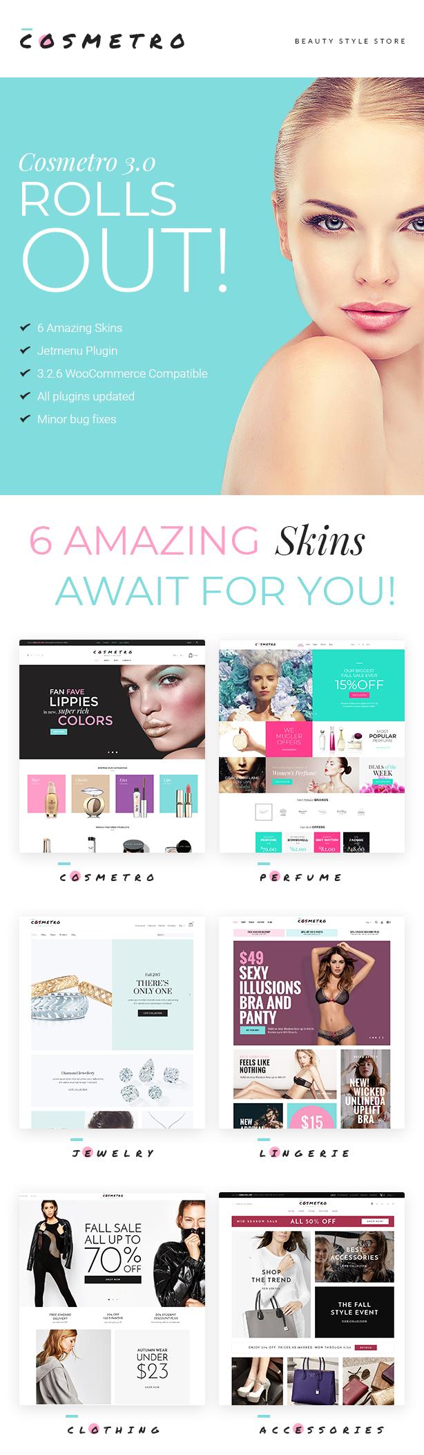 Cosmetro - Cosmetics Store Elementor WooCommerce Theme - 1