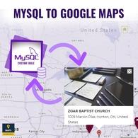 Mysql To Google Maps