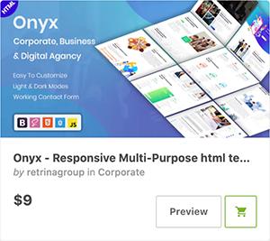 Onyx - Responsive Multi-Purpose html template