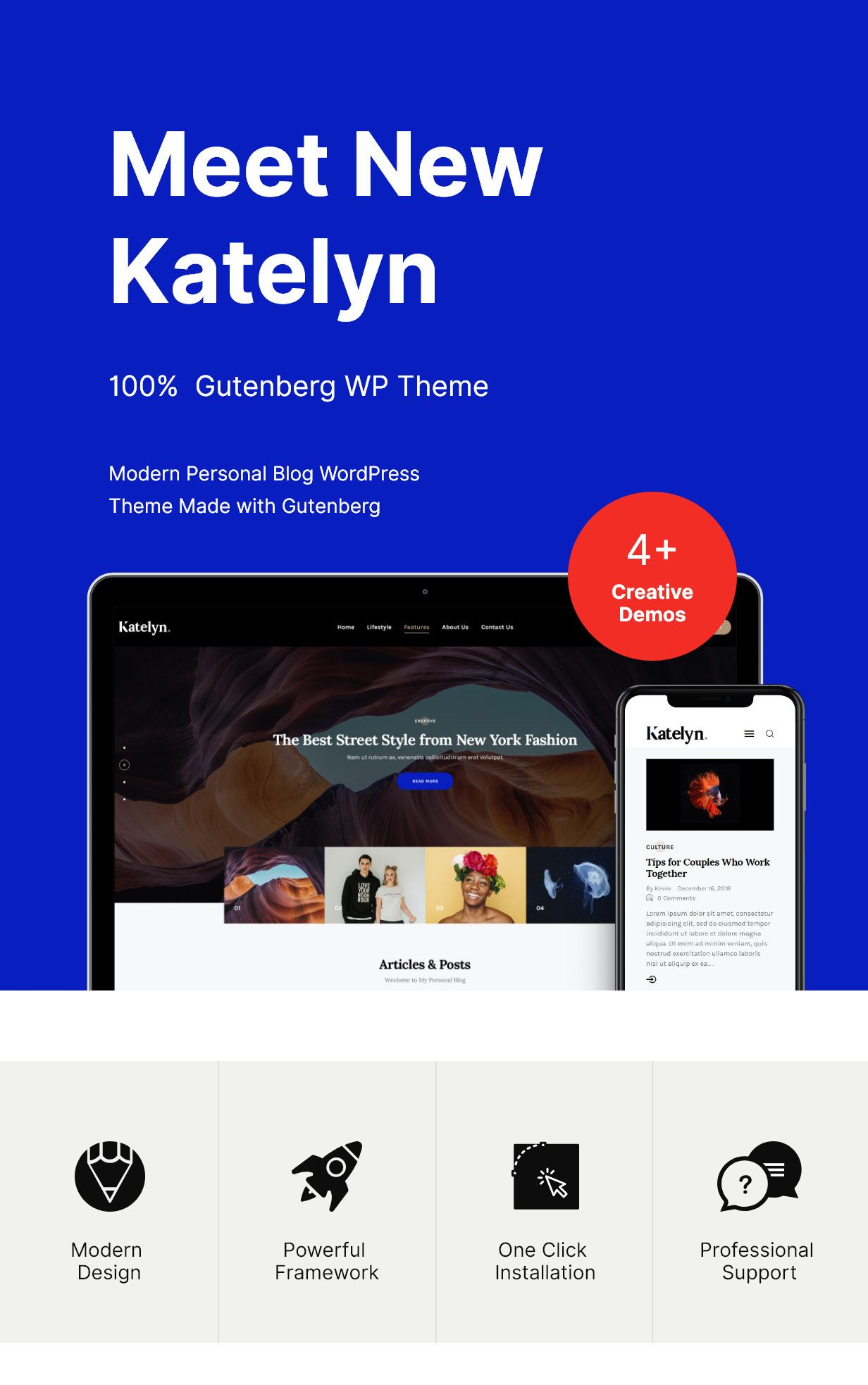 Katelyn | Gutenberg Blog WordPress Theme - 3