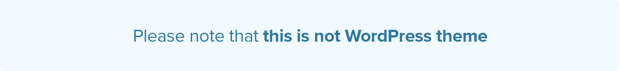Please not that this is not WordPress theme