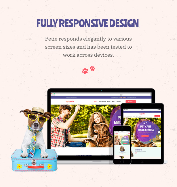 Petie - Pet Care Center & Veterinary WordPress Theme Responsive Design