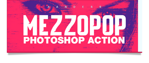 Mezzopop photoshop action pop photo effect
