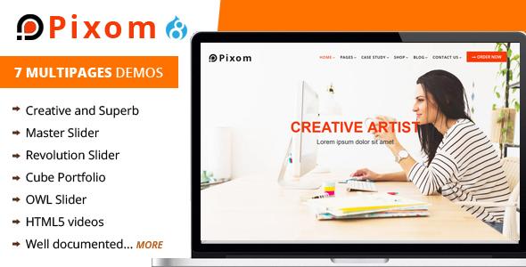 Pixom - Multipages Responsive Drupal 8 Theme | Business