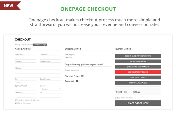 Gnar - Onepage checkout
