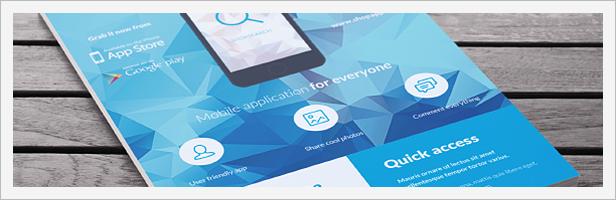 Mobile Application Promotion Flyers / Phone App 5