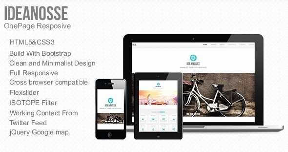 Ideanosse - Responsive One Page Template