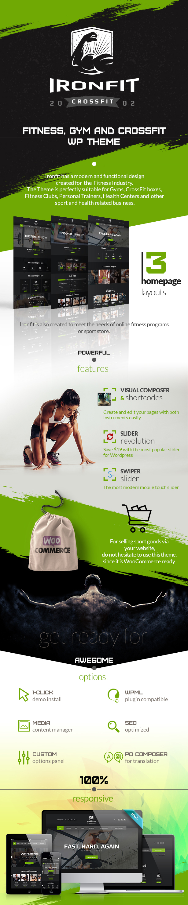 Ironfit - Fitness, Gym and Crossfit WordPress Theme - 2