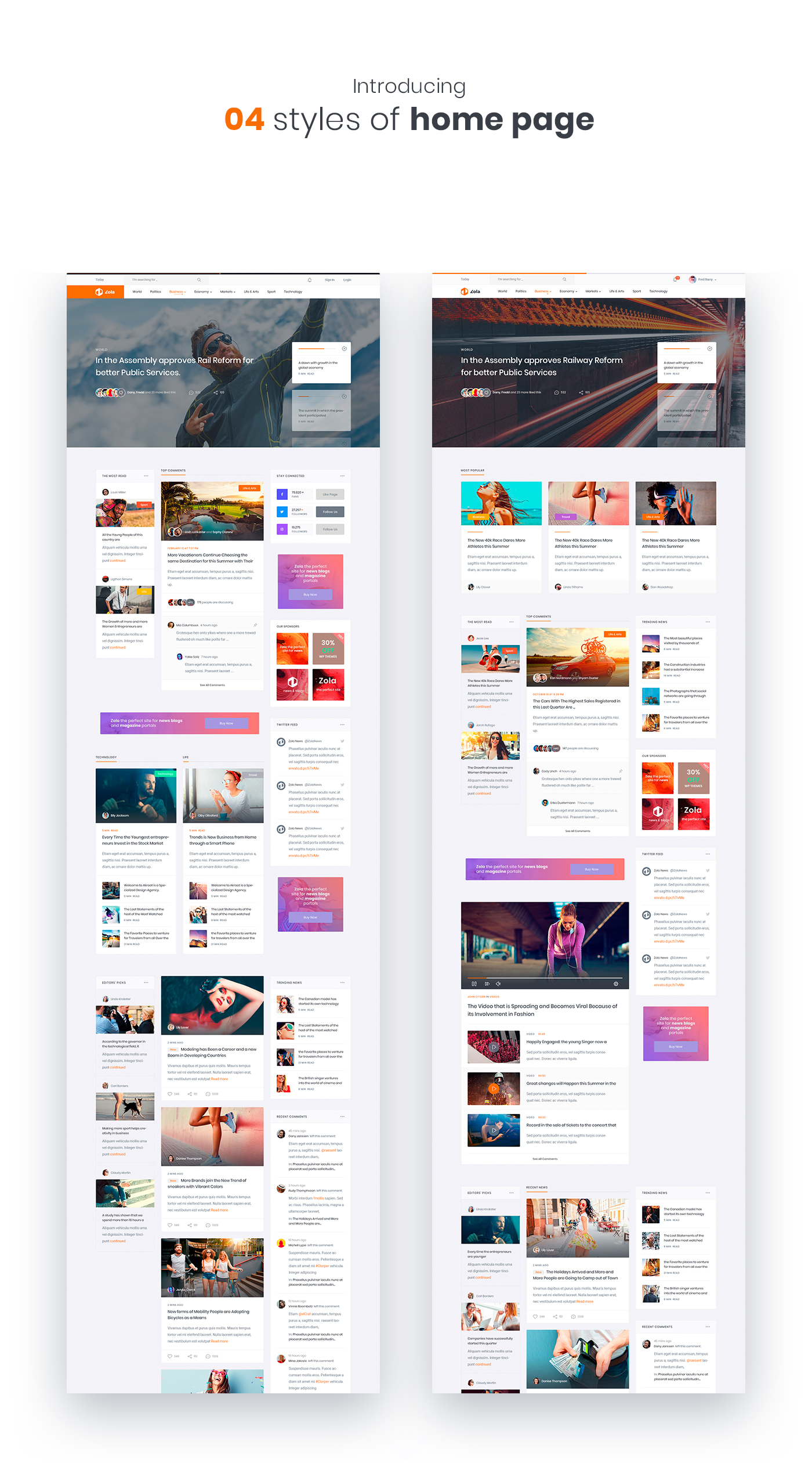 Zola | Magazine News HTML5 Template - 2
