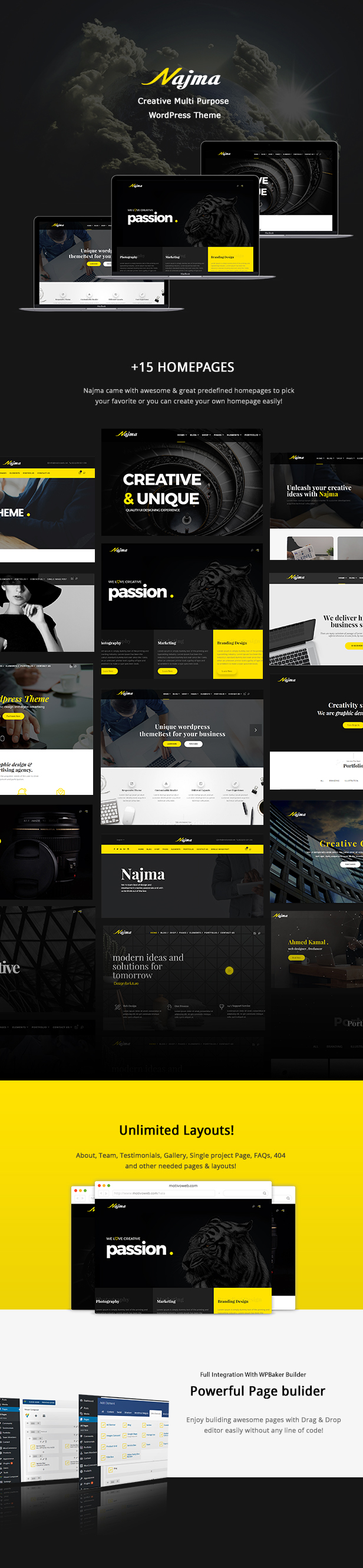 Najma Creative Multi-Purpose WordPress Theme