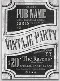 Vintage PUB Flyer Template