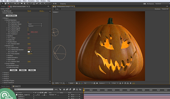 Halloween Pumpkins Pack for Video Copilot's Element 3D from CG Duck