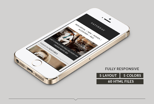Saturday - E-Commerce Responsive Email Template - 1