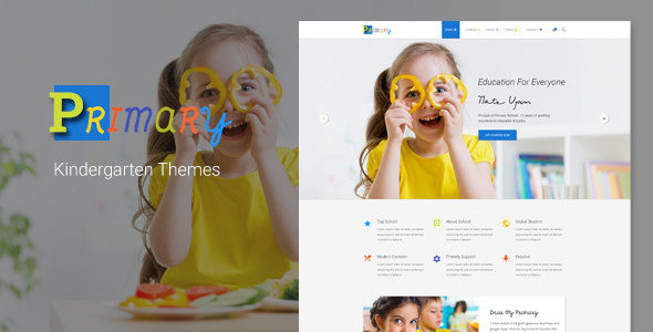 Primary - Kids & Kindergarten School PSD Template