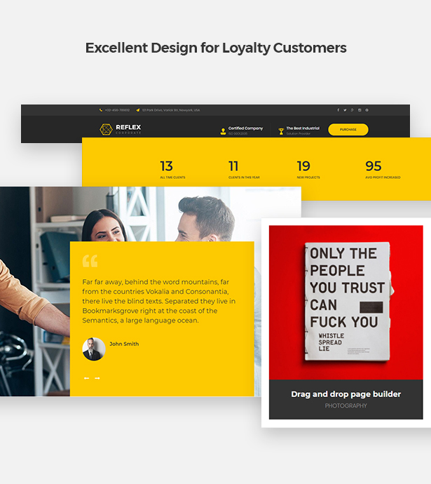 Excellent Design for Loyalty Customers in Corpec Corporate WordPress Theme