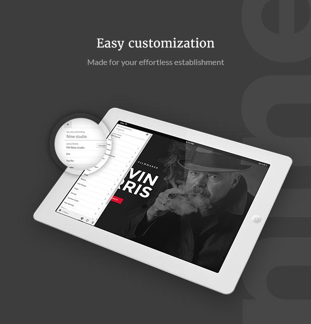Filmmaker Director Film Studio WordPress Theme - Easy Customization