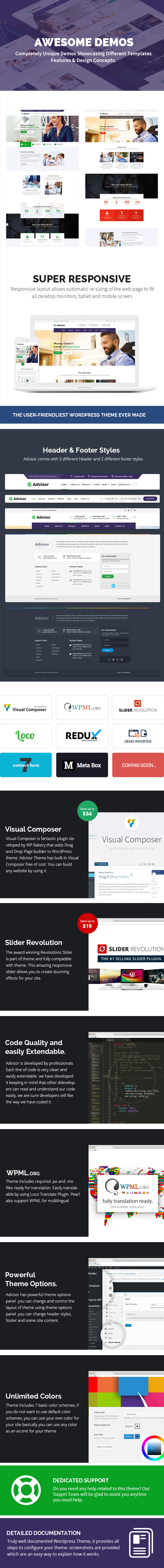 Advisor | Consulting, Business, Finance WordPress Theme - 6