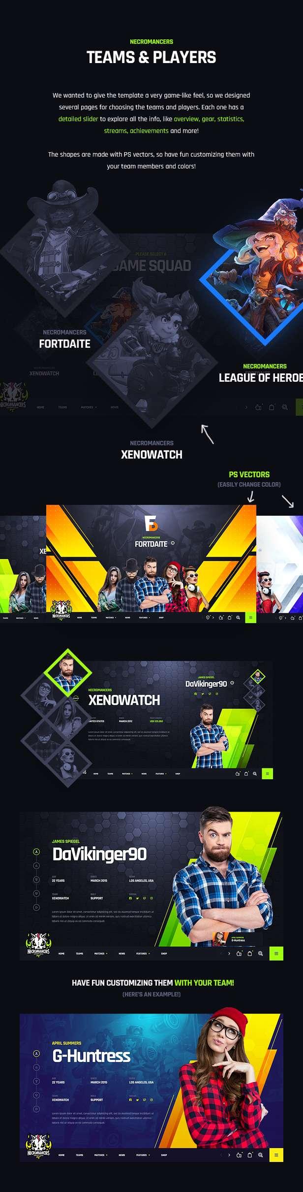 Necromancers - eSports Team PSD Template - 14