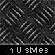 Metalic Steel Background in 8 Styles